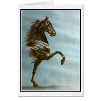 Saddlebred黒いカード カード