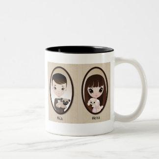 Sadieおよびアンリー ツートーンマグカップ