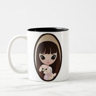 Sadieおよび甘いタルト ツートーンマグカップ