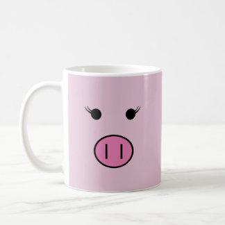 Sadieピンクのブタ コーヒーマグカップ