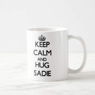 Sadie穏やか、抱擁保って下さい コーヒーマグカップ