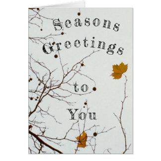 Saesonsの挨拶 カード