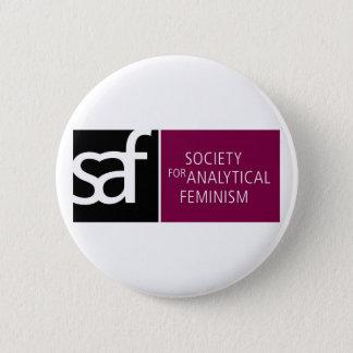 SAFのロゴボタン 5.7CM 丸型バッジ