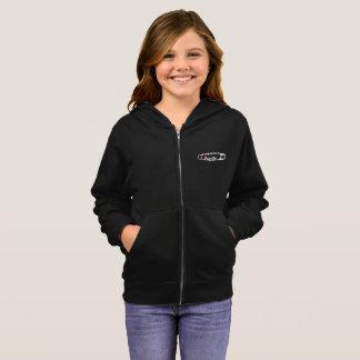 #SafeWithMeの女の子のジッパーのフード付きスウェットシャツ パーカ