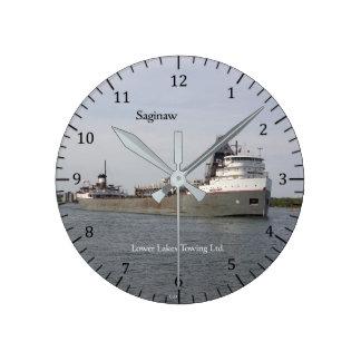 Saginawの時計 ラウンド壁時計