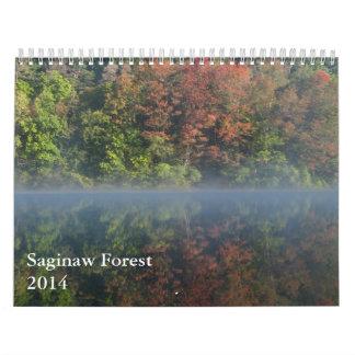Saginawの森林2014カレンダー カレンダー