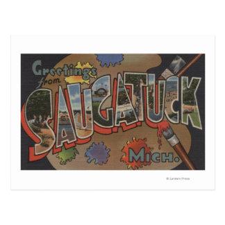 Saginaw、ミシガン州-大きい手紙場面 ポストカード