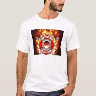 SAGINAW FDの斧 Tシャツ