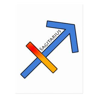 Sagitariusの(占星術の)十二宮図の印、占星術 ポストカード