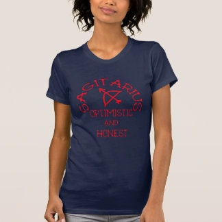 Sagitarius (赤い文字) tシャツ