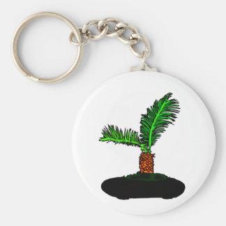 Sagoやし盆栽のタイプ写実的なイメージの木 キーホルダー