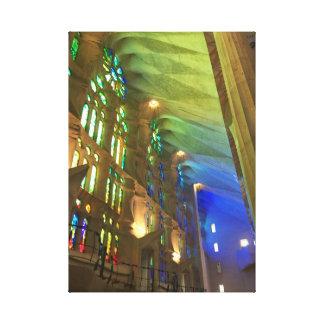 Sagrada Famíliaのインテリア キャンバスプリント