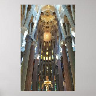 Sagrada Familiaのインテリア ポスター