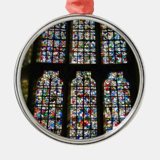 Sagrada Familiaのステンドグラスのバルセロナの写真 メタルオーナメント