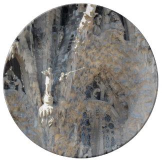 Sagrada Famíliaの出生の正面 磁器プレート