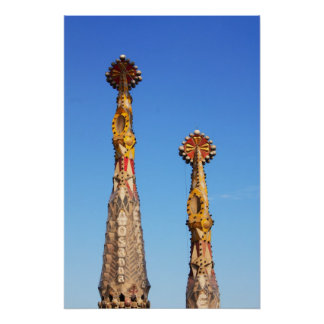 Sagrada Familiaの尖塔 ポスター