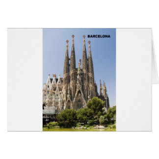 Sagrada Familiaバルセロナスペイン カード