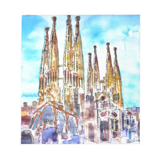 Sagrada Familiaバルセロナ ノートパッド