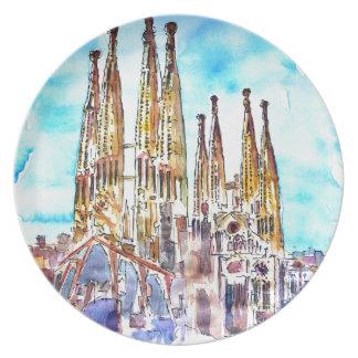 Sagrada Familiaバルセロナ プレート