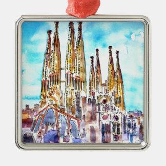 Sagrada Familiaバルセロナ メタルオーナメント