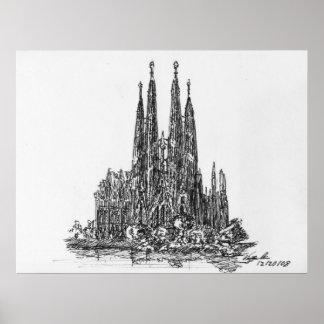 Sagrada Familia ポスター