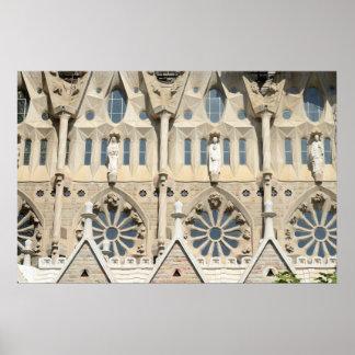 Sagrada Familia。 情熱の正面 ポスター