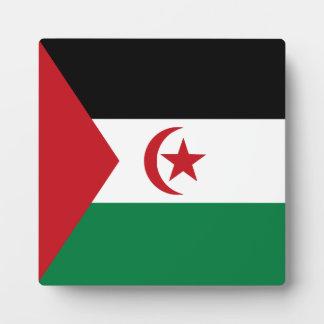 Sahrawiのアラビアの民主共和国の旗 フォトプラーク
