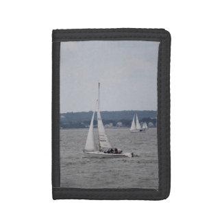 Sailboatingの三重ナイロン財布