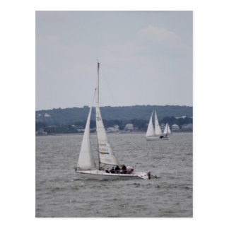 Sailboatingの郵便はがき ポストカード