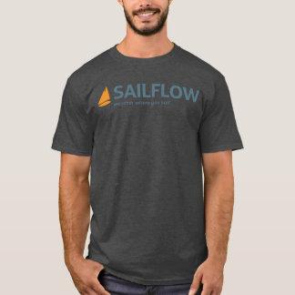 SailFlowの男性木炭Tシャツ Tシャツ