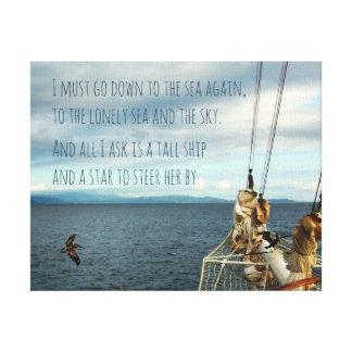 Sailing the Coast Sea Fever Print キャンバスプリント