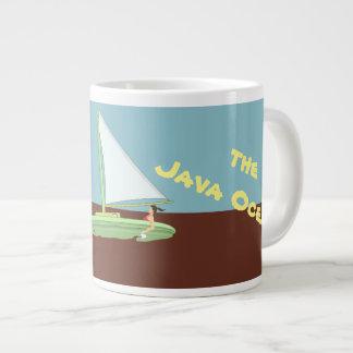 SAILING THE JAVA OCEAN MUG by Slipperywindow ジャンボコーヒーマグカップ