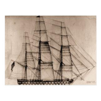 sailplan米国の船コロンブス ポストカード