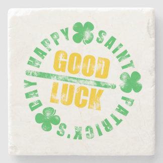 Saint patricks dayの幸せな幸運 ストーンコースター
