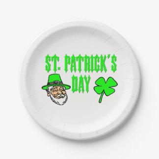 Saint patricks dayの紙皿 ペーパープレート