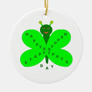 Saint patricks dayの蝶オーナメント セラミックオーナメント