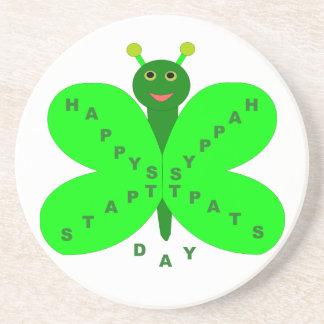 Saint patricks dayの蝶コースター コースター