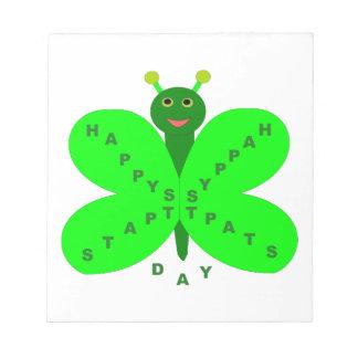 Saint patricks dayの蝶メモ帳 ノートパッド