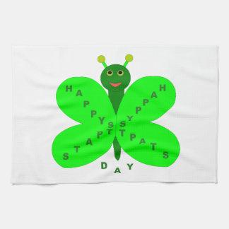 Saint patricks dayの蝶台所タオル キッチンタオル
