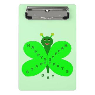 Saint patricks dayの蝶小型クリップボード ミニクリップボード