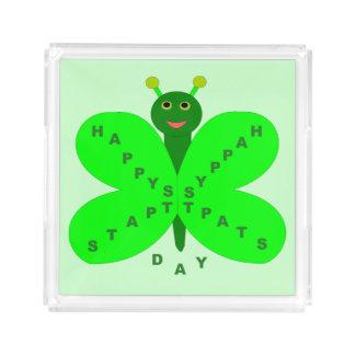 Saint patricks day Butetrflyの香水の皿 アクリルトレー