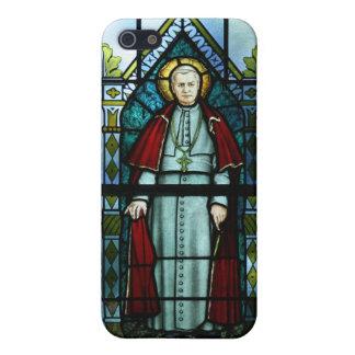 Saint Pius X法皇のステンドグラスの芸術 iPhone SE/5/5sケース