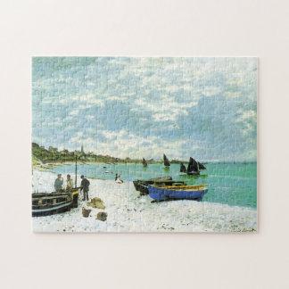 Sainte-Adresse Monetのファインアートのビーチ ジグソーパズル