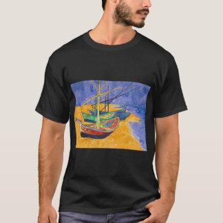 saintesのmarieのwatercoloのフィンセント・ファン・ゴッホのボート tシャツ