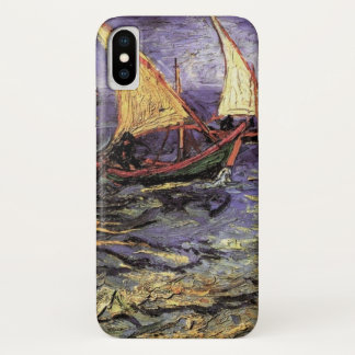 Saintes Mariesのファインアートのゴッホの海景 iPhone X ケース