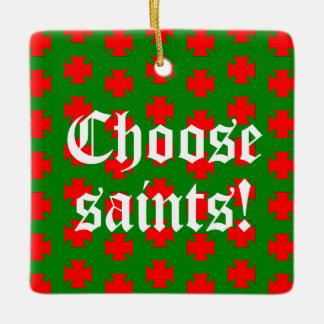 Saints_Aplenty Slogan Square (Christmas Ed. #1) セラミックオーナメント