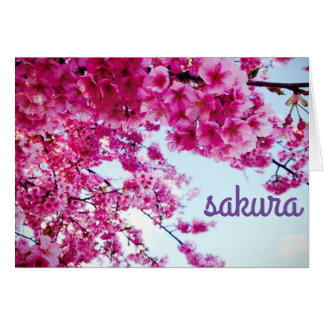 sakura シンプルなノートカード カード