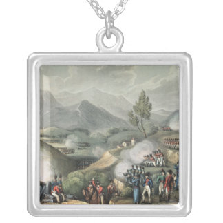 Salamonda 5月16日のTh 1809年の戦い シルバープレートネックレス