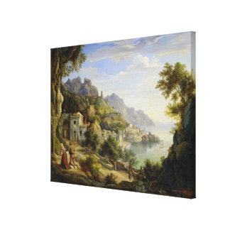 Salernoの湾、1826年 キャンバスプリント