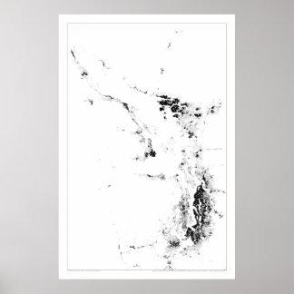 Salishの海の人口調査Dotmap ポスター